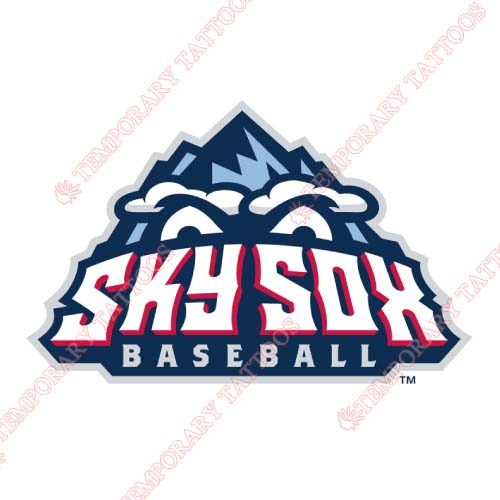 Colorado Springs Sky Sox Customize Temporary Tattoos Stickers NO.8150