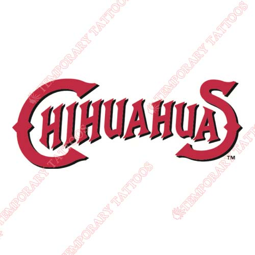 El Paso Chihuahuas Customize Temporary Tattoos Stickers NO.8151