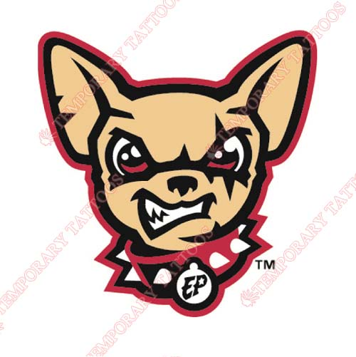 El Paso Chihuahuas Customize Temporary Tattoos Stickers NO.8155