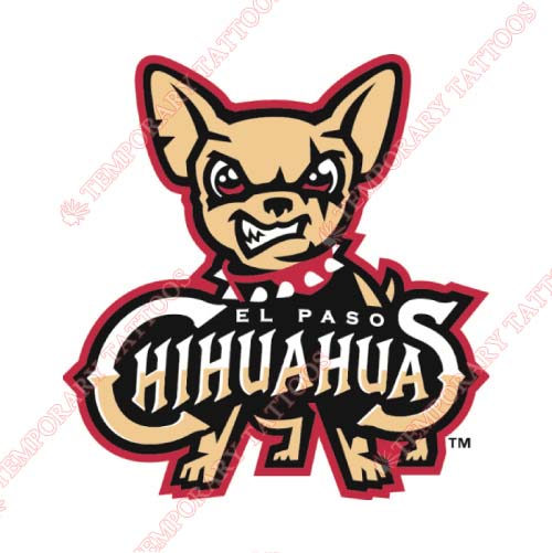 El Paso Chihuahuas Customize Temporary Tattoos Stickers NO.8156