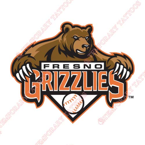 Fresno Grizzlies Customize Temporary Tattoos Stickers NO.8159