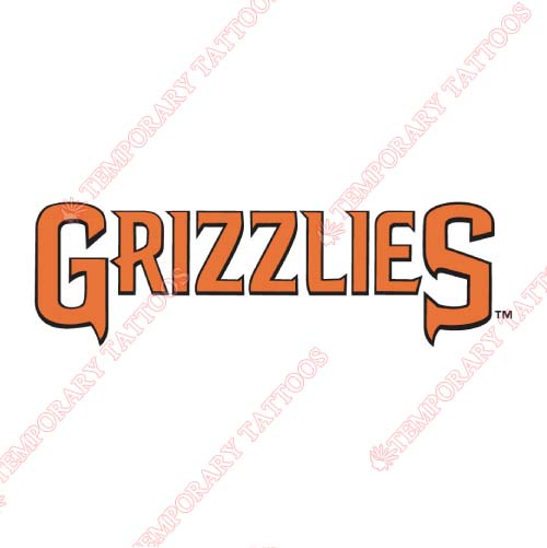 Fresno Grizzlies Customize Temporary Tattoos Stickers NO.8161