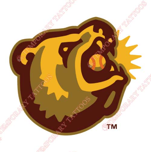 Fresno Grizzlies Customize Temporary Tattoos Stickers NO.8164