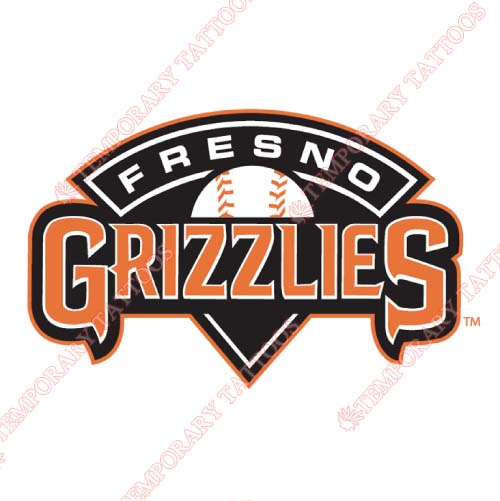 Fresno Grizzlies Customize Temporary Tattoos Stickers NO.8165