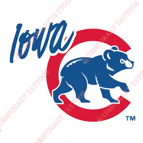 Iowa Cubs Customize Temporary Tattoos Stickers NO.8166