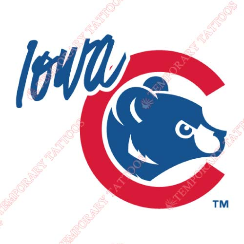Iowa Cubs Customize Temporary Tattoos Stickers NO.8168