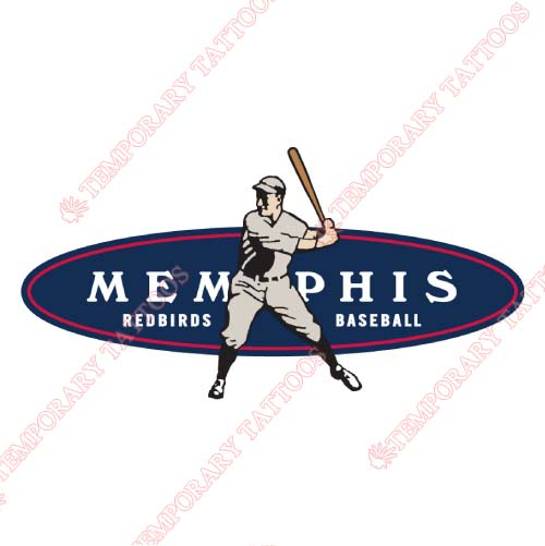 Memphis Redbirds Customize Temporary Tattoos Stickers NO.8174