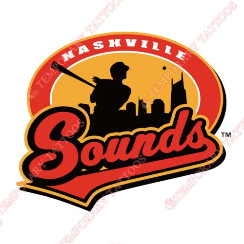 Nashville Sounds Customize Temporary Tattoos Stickers NO.8182