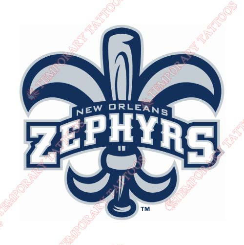 New Orleans Zephyrs Customize Temporary Tattoos Stickers NO.8187