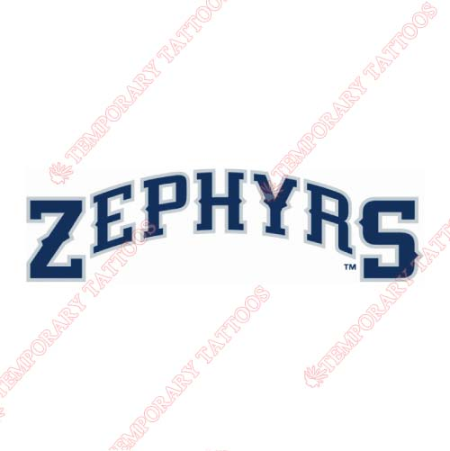 New Orleans Zephyrs Customize Temporary Tattoos Stickers NO.8188