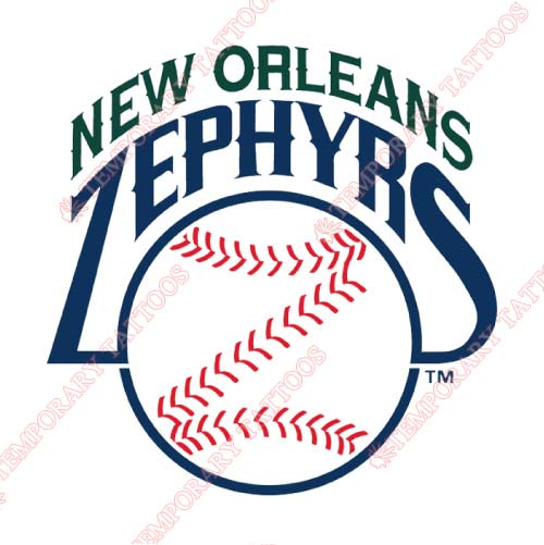 New Orleans Zephyrs Customize Temporary Tattoos Stickers NO.8189