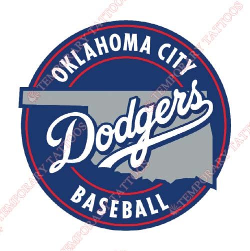 Oklahoma City Dodgers Customize Temporary Tattoos Stickers NO.8194