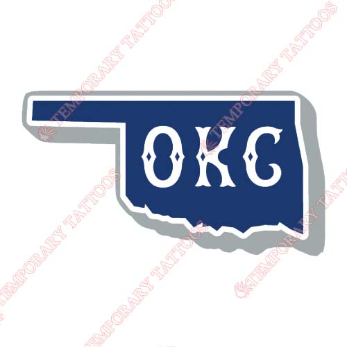 Oklahoma City Dodgers Customize Temporary Tattoos Stickers NO.8202