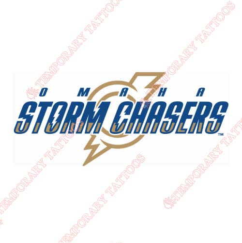 Omaha Storm Chasers Customize Temporary Tattoos Stickers NO.8205