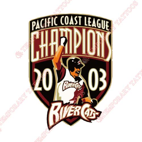 Sacramento River Cats Customize Temporary Tattoos Stickers NO.7697