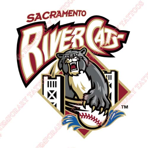 Sacramento River Cats Customize Temporary Tattoos Stickers NO.7701