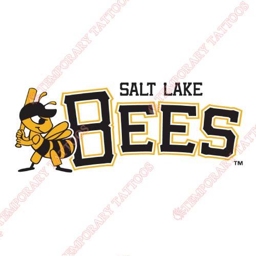 Salt lake bees customize temporary tattoos stickers no 7706