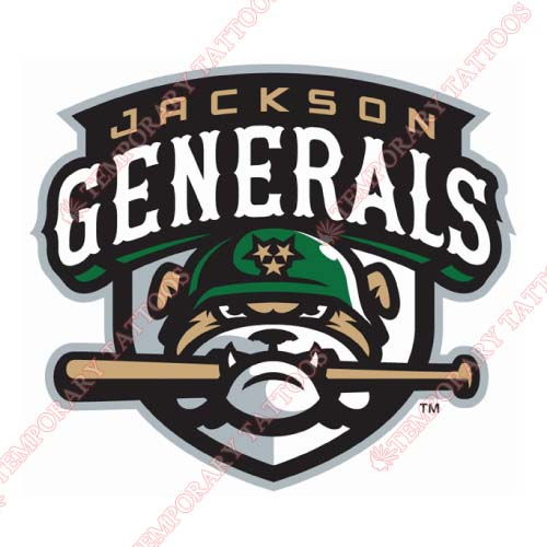 Jackson Generals Customize Temporary Tattoos Stickers NO.7717
