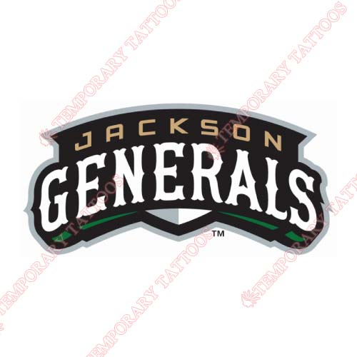 Jackson Generals Customize Temporary Tattoos Stickers NO.7718