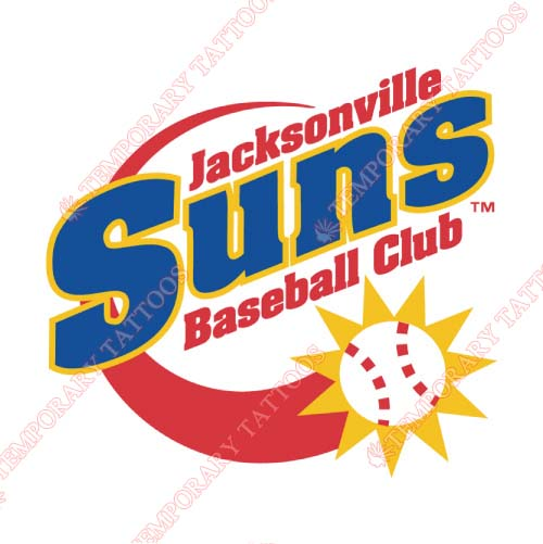 Jacksonville Suns Customize Temporary Tattoos Stickers NO.7722