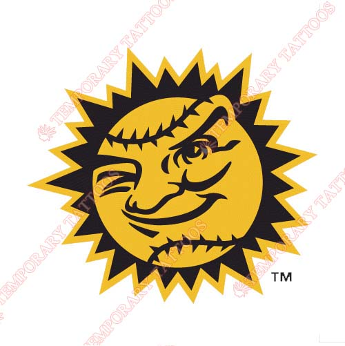 Jacksonville Suns Customize Temporary Tattoos Stickers NO.7723