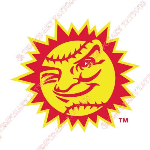 Jacksonville Suns Customize Temporary Tattoos Stickers NO.7727