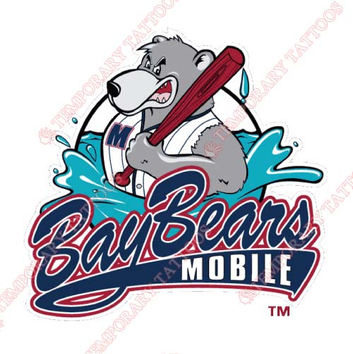 Mobile BayBears Customize Temporary Tattoos Stickers NO.7736
