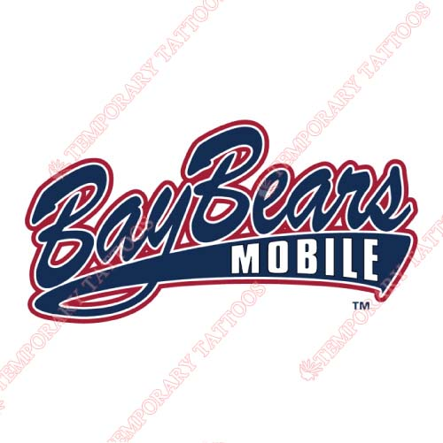 Mobile BayBears Customize Temporary Tattoos Stickers NO.7737