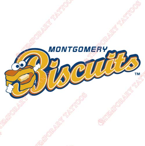 Montgomery Biscuits Customize Temporary Tattoos Stickers NO.7738