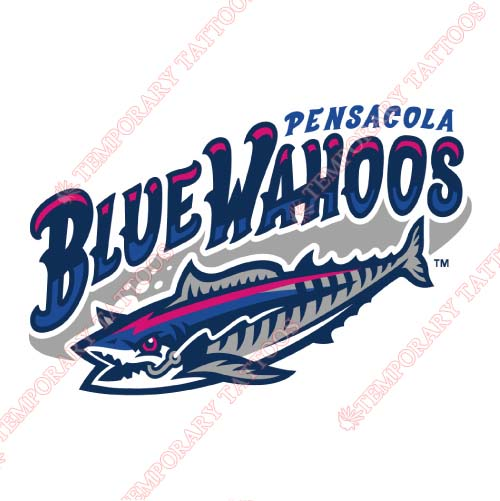 Pensacola Blue Wahoos Customize Temporary Tattoos Stickers NO.7743