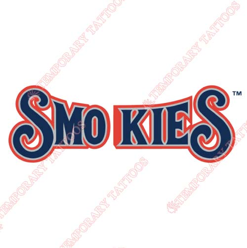 Tennessee Smokies Customize Temporary Tattoos Stickers NO.7751