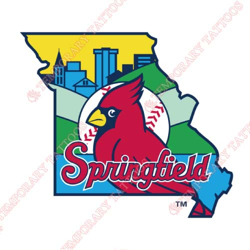 Springfield Cardinals Customize Temporary Tattoos Stickers NO.7780
