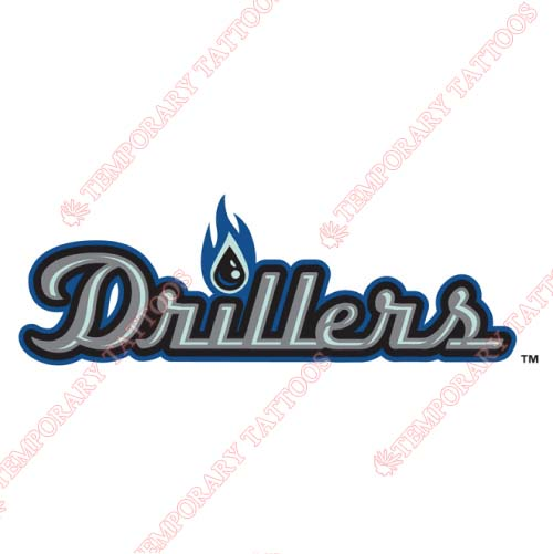 Tulsa Drillers Customize Temporary Tattoos Stickers NO.7784