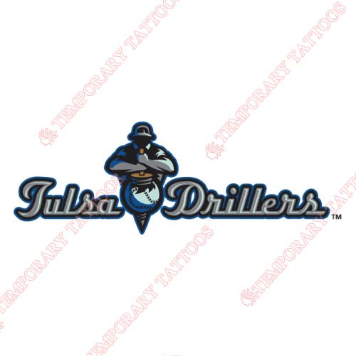 Tulsa Drillers Customize Temporary Tattoos Stickers NO.7788