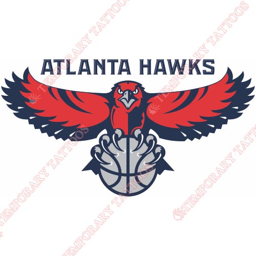 Atlanta Hawks Customize Temporary Tattoos Stickers NO.901
