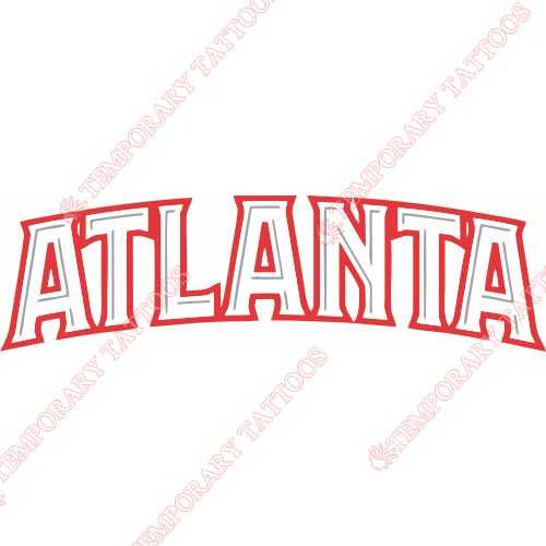 Atlanta Hawks Customize Temporary Tattoos Stickers NO.902