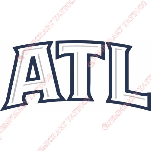 Atlanta Hawks Customize Temporary Tattoos Stickers NO.905