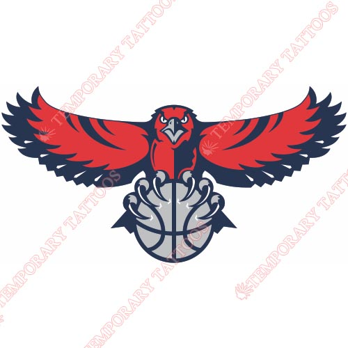 Atlanta Hawks Customize Temporary Tattoos Stickers NO.909