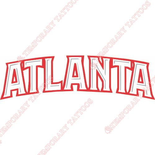 Atlanta Hawks Customize Temporary Tattoos Stickers NO.913