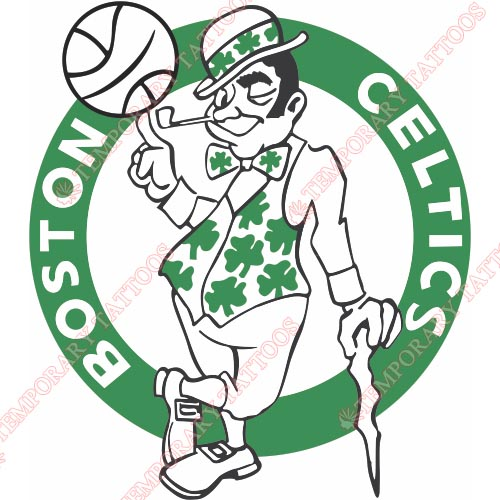 Boston Celtics Customize Temporary Tattoos Stickers NO.915