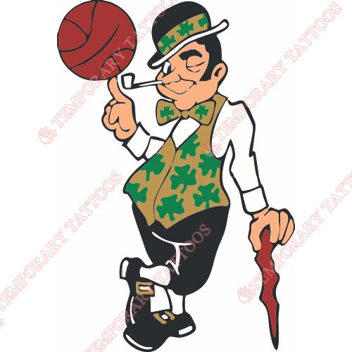 Boston Celtics Customize Temporary Tattoos Stickers NO.917