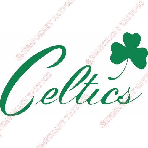 Boston Celtics Customize Temporary Tattoos Stickers NO.918