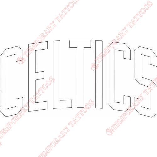 Boston Celtics Customize Temporary Tattoos Stickers NO.919