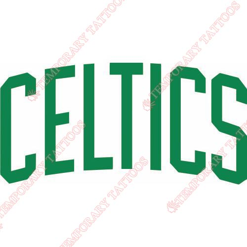 Boston Celtics Customize Temporary Tattoos Stickers NO.920