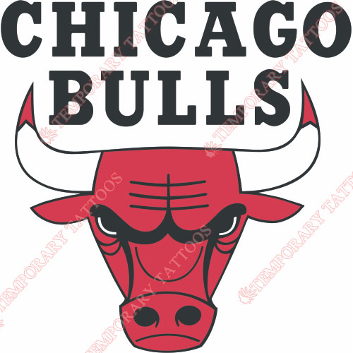 Chicago Bulls Customize Temporary Tattoos Stickers NO.933
