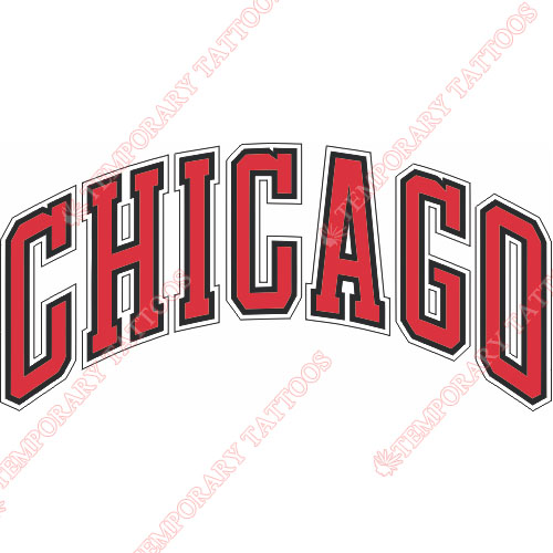 Chicago Bulls Customize Temporary Tattoos Stickers NO.934