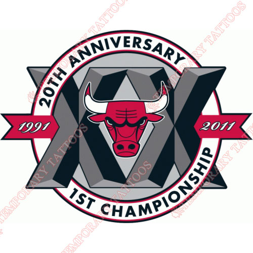 Chicago Bulls Customize Temporary Tattoos Stickers NO.936