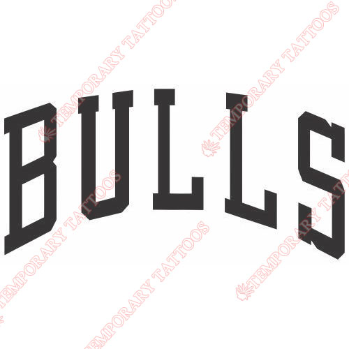 Chicago Bulls Customize Temporary Tattoos Stickers NO.939
