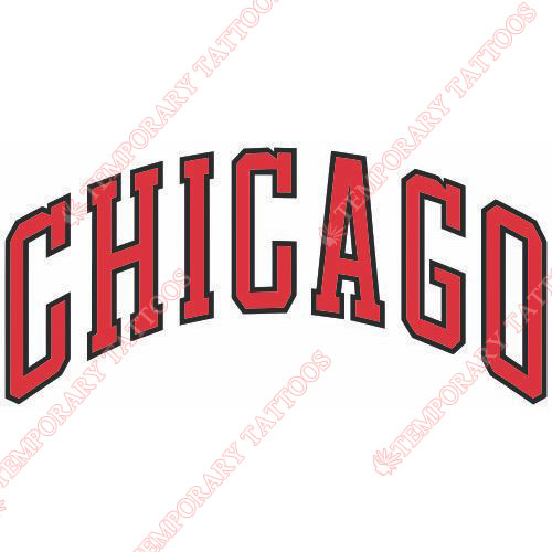 Chicago Bulls Customize Temporary Tattoos Stickers NO.940