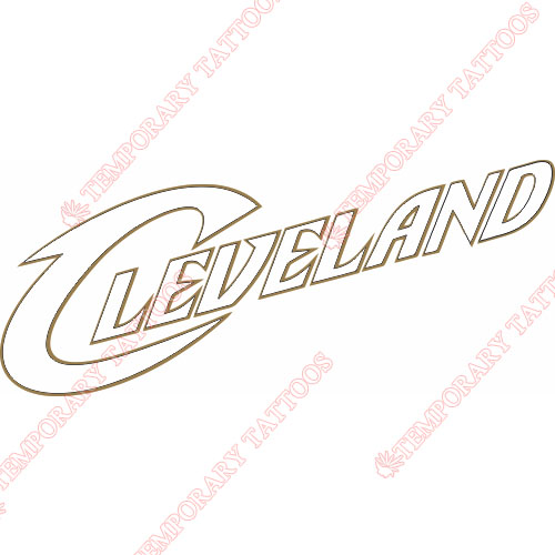 Cleveland Cavaliers Customize Temporary Tattoos Stickers NO.944